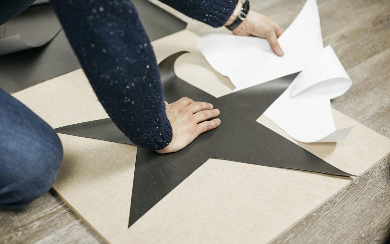 papier peint magnétique en forme d'étoile