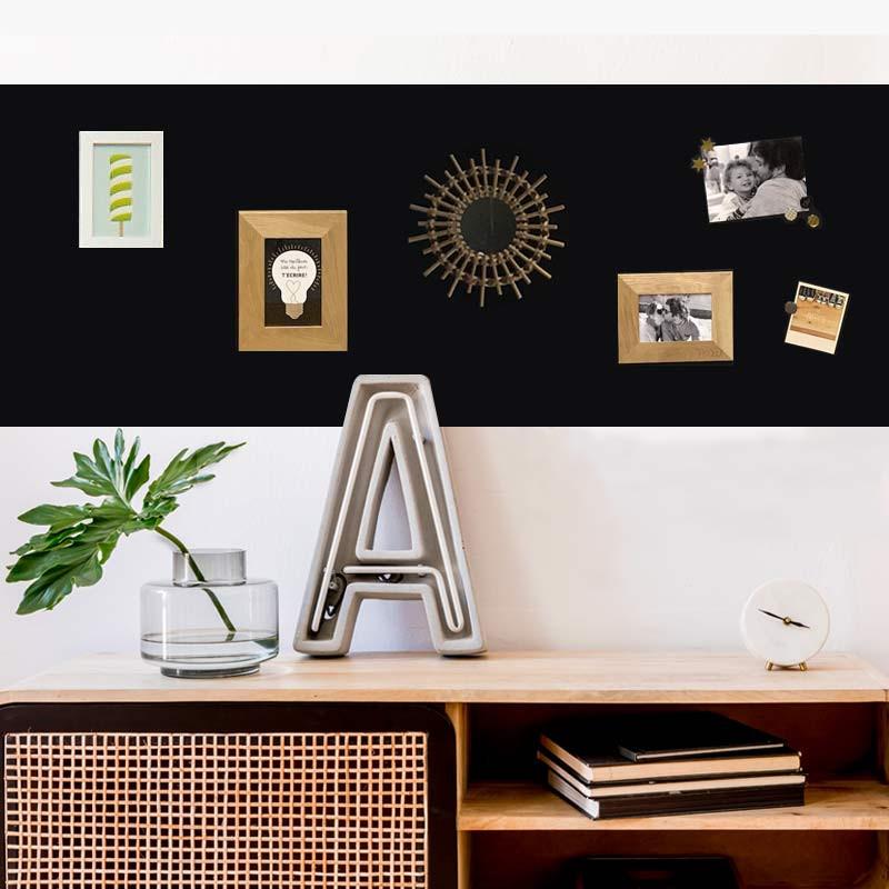 Papier peint magnétique noir Ferflex repositionnable 2mx60cm