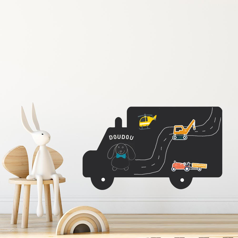 tabeau magnétique pour enfant en forme de camion