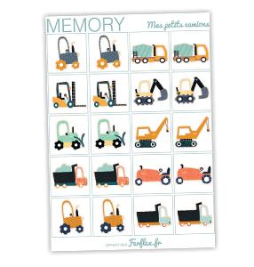 memory theme des camions à télécharger