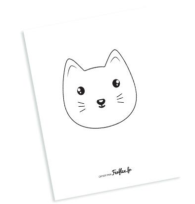 coloriage tête de chat à télécharger gratuitement