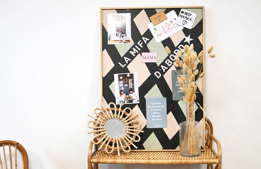DIY – creer un tableau magnetique decoratif